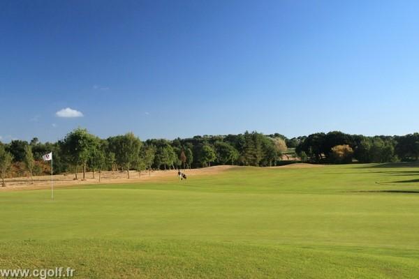 Green n°9 du golf des Fontenelles à l'Aiguillon sur Vie en Vendée Pays de Loire