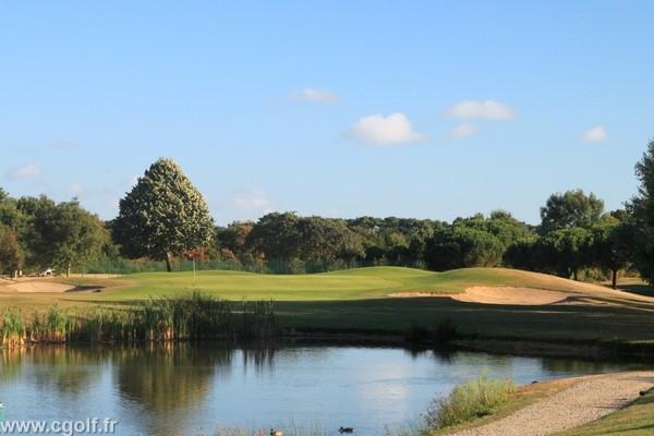 Green n°12 du golf des Fontenelles à l'Aiguillon sur Vie en Vendée Pays de Loire