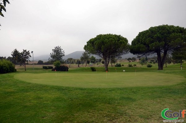 Putting green du golf de Lezza à Porto-Vecchio proche de Bonifacio et Sperone en Corse