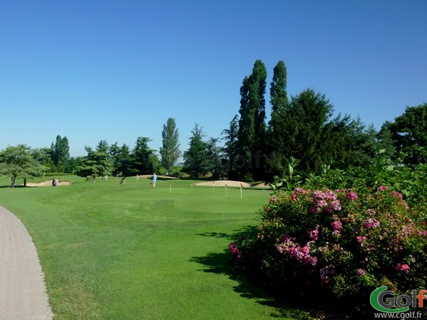 Putting green du golf de Lyon Chassieu dans la banlieu Lyonnaise en Rhône-Alpes