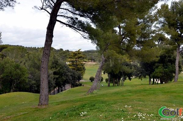 Départ n°18 du golf de La Salette à Marseille dans les Bouches du Rhone en Provence