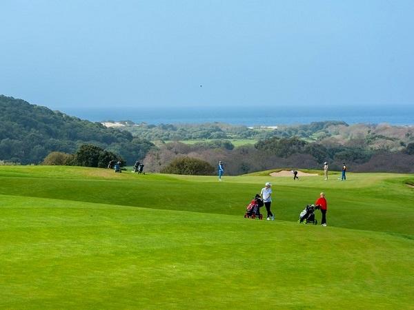 green et vue mer du golf de Murtoli en Sartène proche de Bonifacio en Corse
