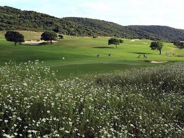 fairways du golf de Murtoli en Sartène dans la Corse du sud proche de Bonifacio
