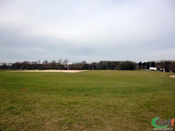 Le putting green du golf National de Paris dans les Yvelines à Guyancourt en Ile de France