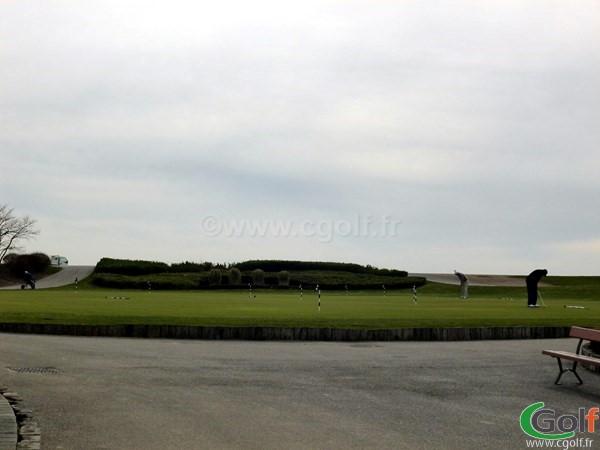 Un putting green du golf National dans les Yvelines proche de Paris en Ile de France