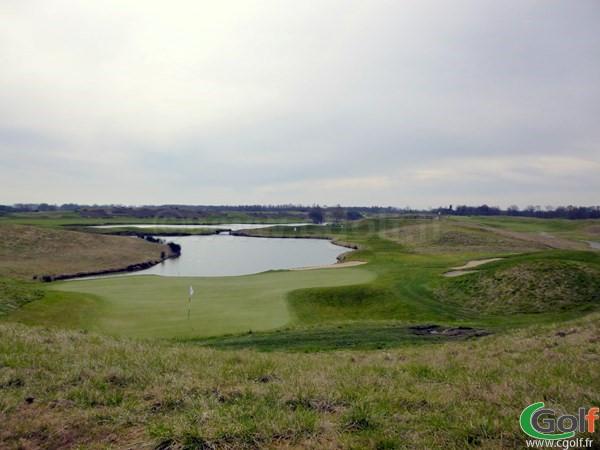 Le green n°16 au golf National de Paris parcours l'Albatros dans les Yvelines à Guyancourt