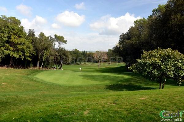 Le green du n°15 du golf d'Opio Valbonne sur la Cote d'Azur