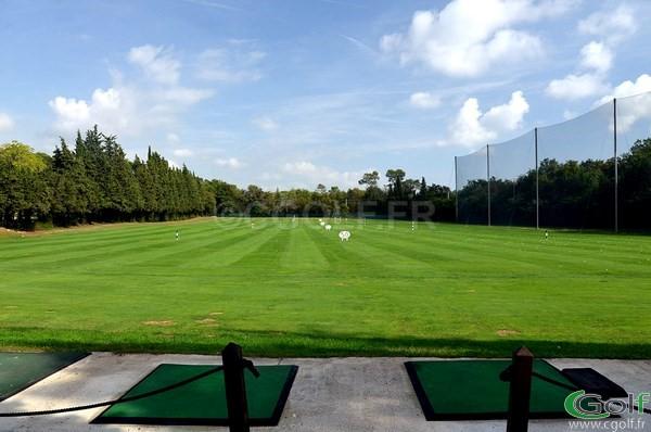 Le practice de Opio Valbonne golf club dans les Alpes Maritimes