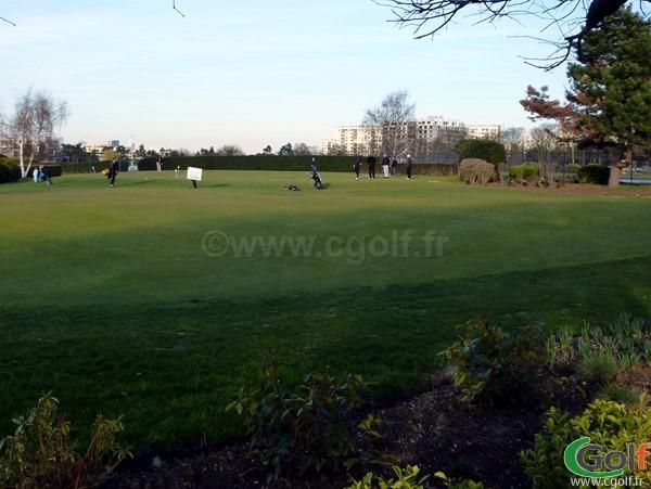 Le putting green du Paris golf Country Club à Saint Cloud dans les Hauts de Seine