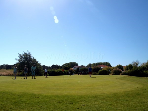 Putting green du golf de Port Bourgenay Talmont Saint Hilaire en Vendée Pays de Loire