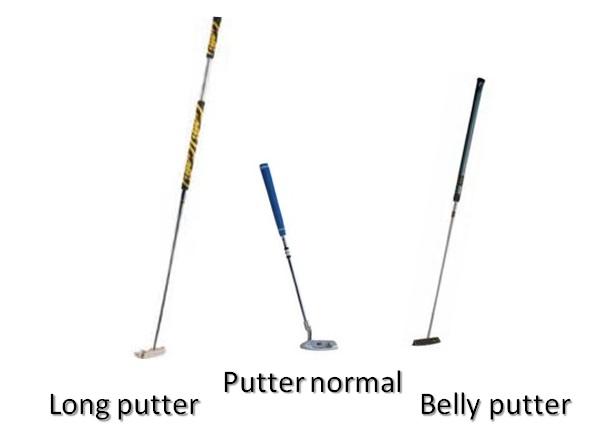 les différentes longueurs de putter, le putter traditionnel, le belly putter et le long putter