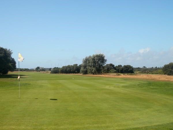 Green n°18 du golf de Rhuys-Kerver en Bretagne dans le Morbihan à Saint-Gildas-de-Rhuys