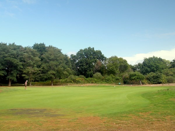 Putting green du golf de Rhuys-Kerver dans le Morbihan en Bretagne à Saint-Gildas-de-Rhuys