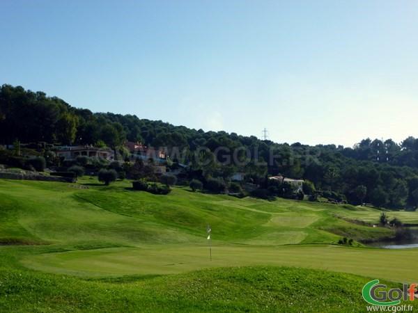 Le green n°18 du Royal Mougins golf club dans les Alpes Maritimes 06 proche de Cannes