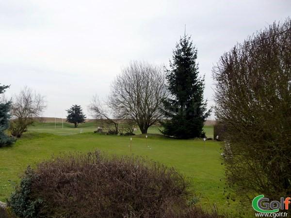 Putting green du golf de Saint Aubin dans l'Essonne en Ile de France Paris