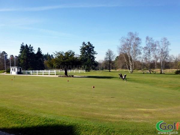 Putting green du golf de Saint-Germain-en-Laye proche de Paris dans les Yvelines
