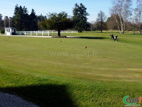 Putting green du golf de Saint-Germain-en-Laye dans les Yvelines en Ile de France à Paris