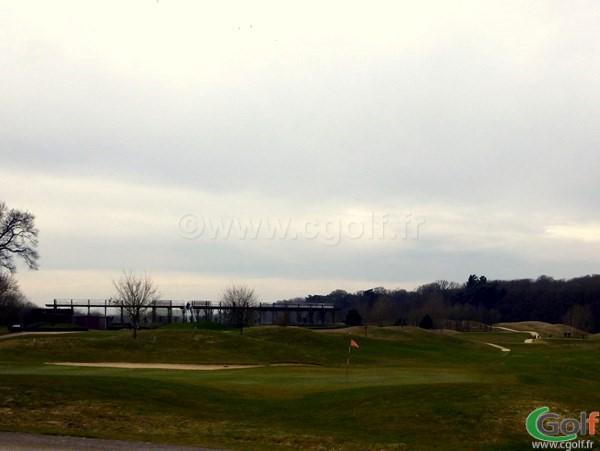 Le green n°9 du golf de Saint-Marc à Jouy-en-Josas proche de Versailles dans les Yvelines