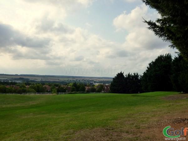 Départ du trou n°6 du golf de Salouel proche d'Amiens en Picardie dans la Somme