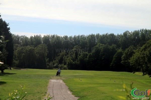 Départ du trou n°1 du golf du Touquet parcours la Forêt en Nord-Pas-de-Calais sur la Cote d'Opale