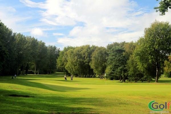 Green du golf du Touquet sur le parcours de la Forêt en region Nord-Pas-de-Calais sur la Côte d'Opale