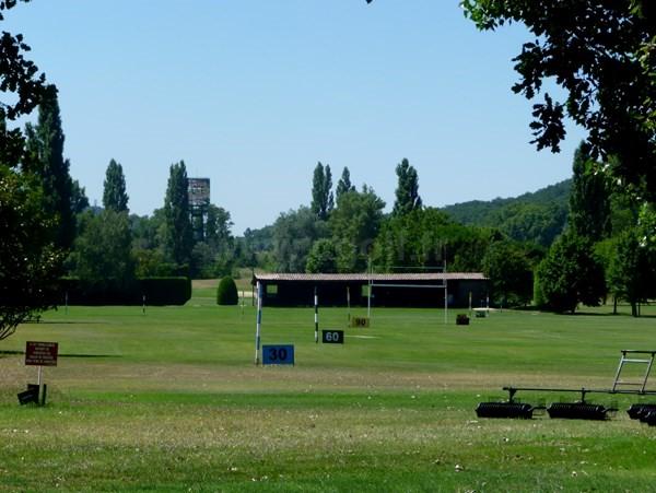 Practice du golf de la Valdaine dans la Drôme en Rhône-Alpes proche de Montélimar
