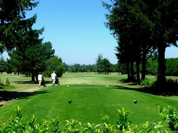 Départ n°9 du golf de Valence Saint Didier à Charpey en Rhône Alpes dans la Drôme