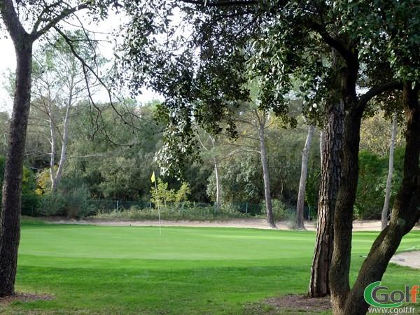 Le green du n°3 du golf de Valescure dans le Var en région PACA à Saint Raphael
