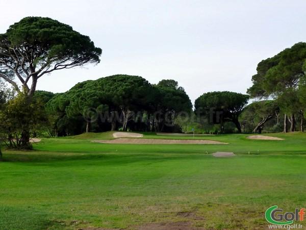 Le green du n°16 du golf de Valescure dans le Var à Saint Raphael sur la cote d'Azur en région PACA