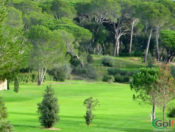 Le fairway du n°18 du golf de Valescure en region PACA dans le Var à Saint Raphael