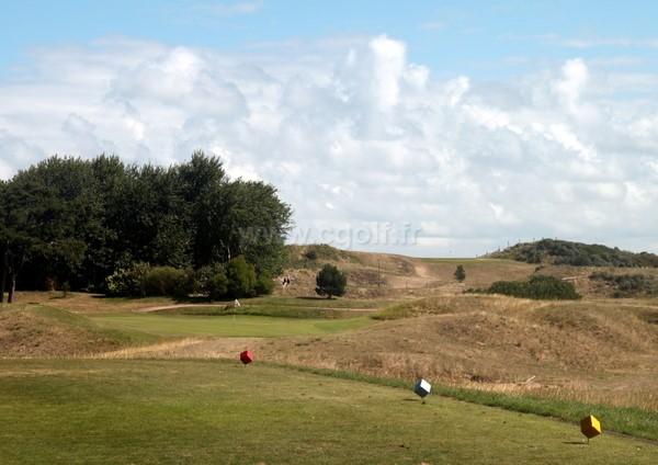 Trou n°1 du golf de Cabourg Varaville le Home dans le calvados en Normandie