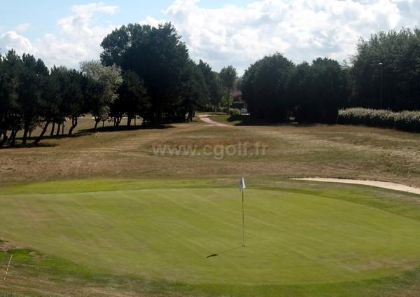 Green n°18 du golf de Cabourg Le Home Varaville en Normandie dans le Calvados