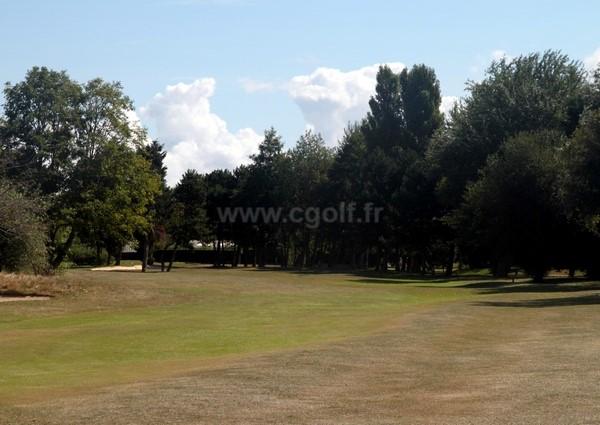 Fairway n°12 du golf de Cabourg à Varaville Le Home dans le Calvados en Normandie