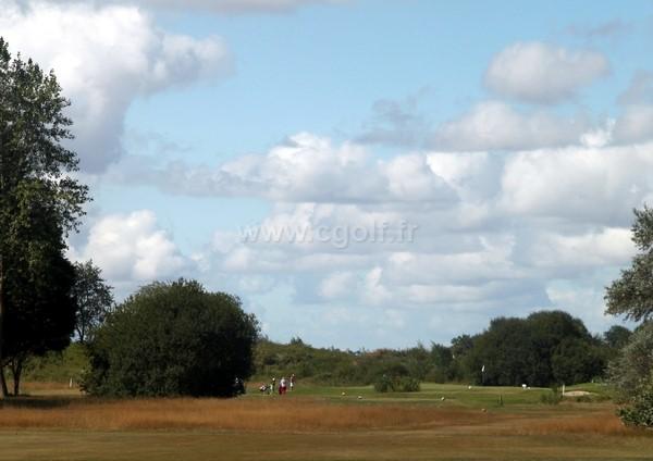 Départ trou n°12 du golf de Cabourg Varaville-le Home en Normandie dans le Calvados