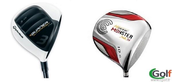 Exemple de club de golf les bois : un bois 3 et un driver