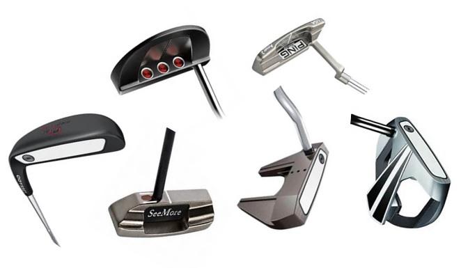 les differents putters possible pour completer un sac de golf parmi les marques odyssey, ping, taylor made